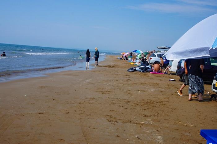 千里浜なぎさドライブウェイの海水浴シーズン